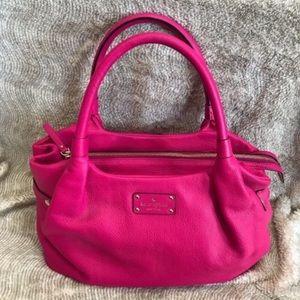 NWOT Kate Spade Pebbled Leather Handbag, Pink